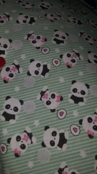 Tricoline estampado mini panda